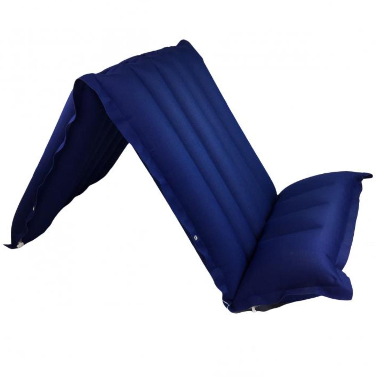 Nafukovací lehátko gumotextilní Bára 3 dílné - modré