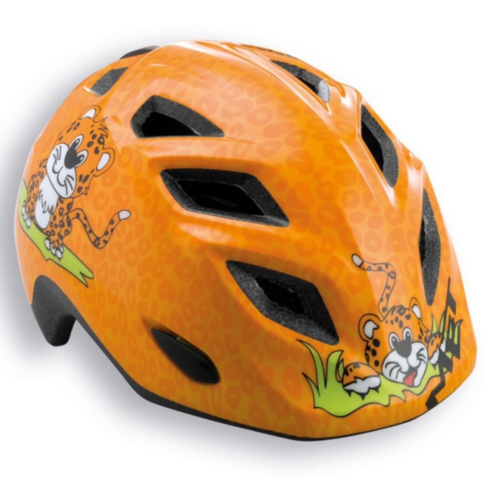 Cyklo přilba MET Elfo 46-53 leopard-oranžová