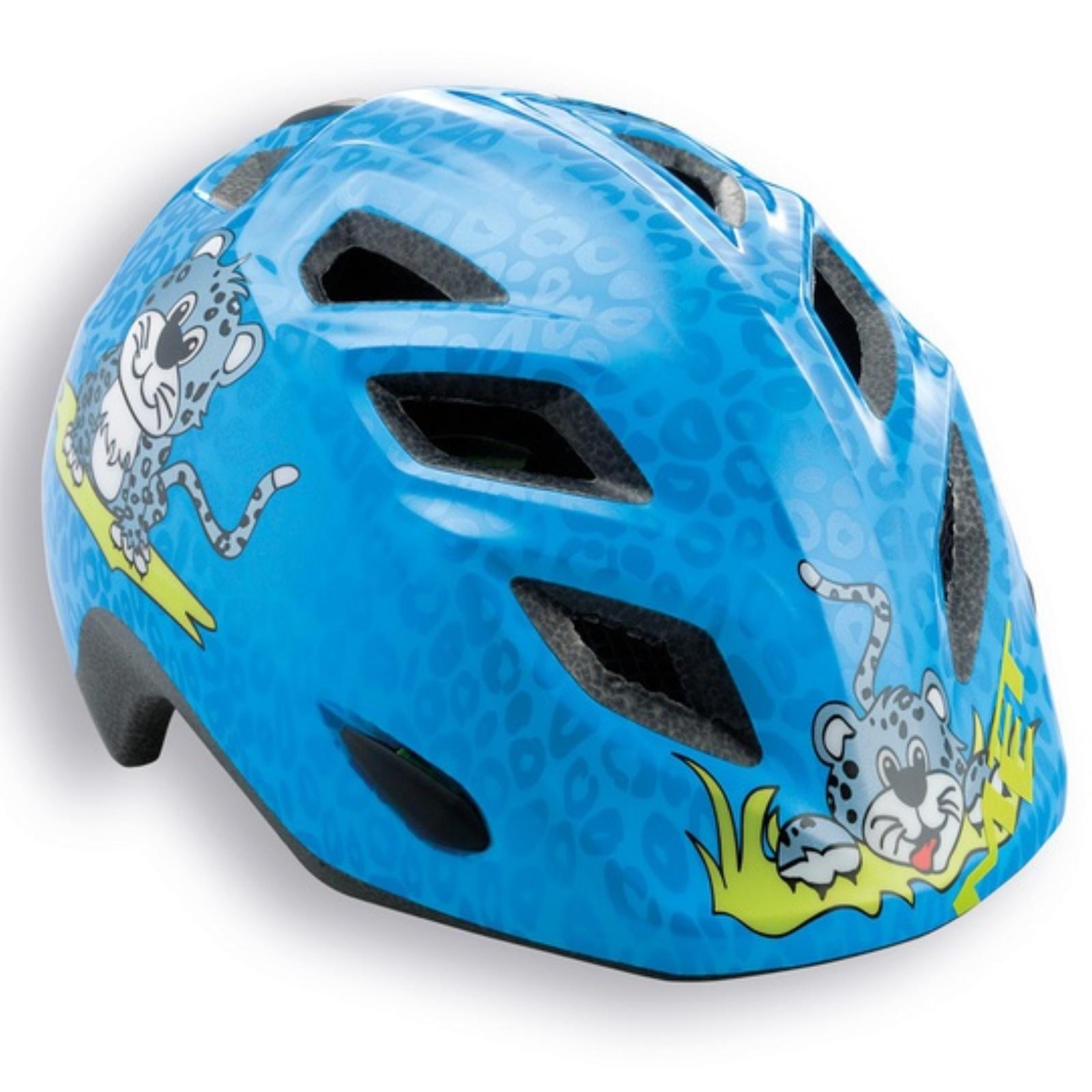 Cyklo přilba MET Elfo 46-53 leopard-modrá