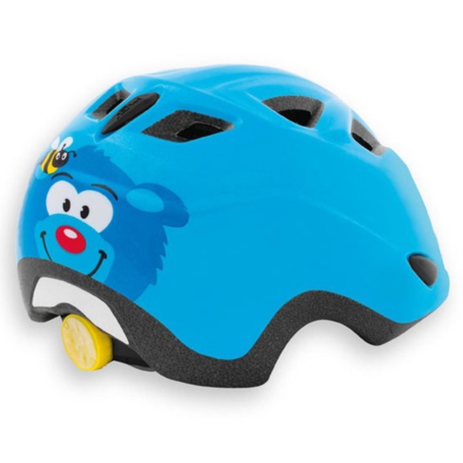 Cyklo přilba MET Elfo 46-53 medvěd-modrá