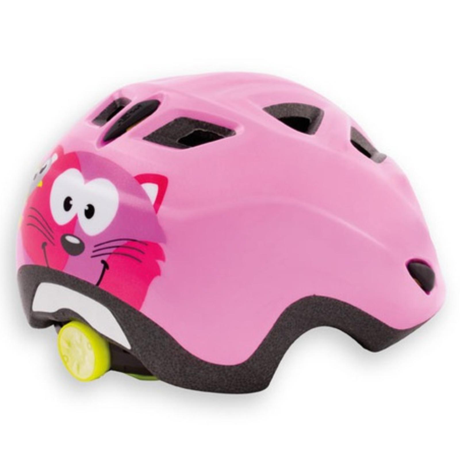 Cyklo přilba MET Elfo 46-53 kočka-růžová