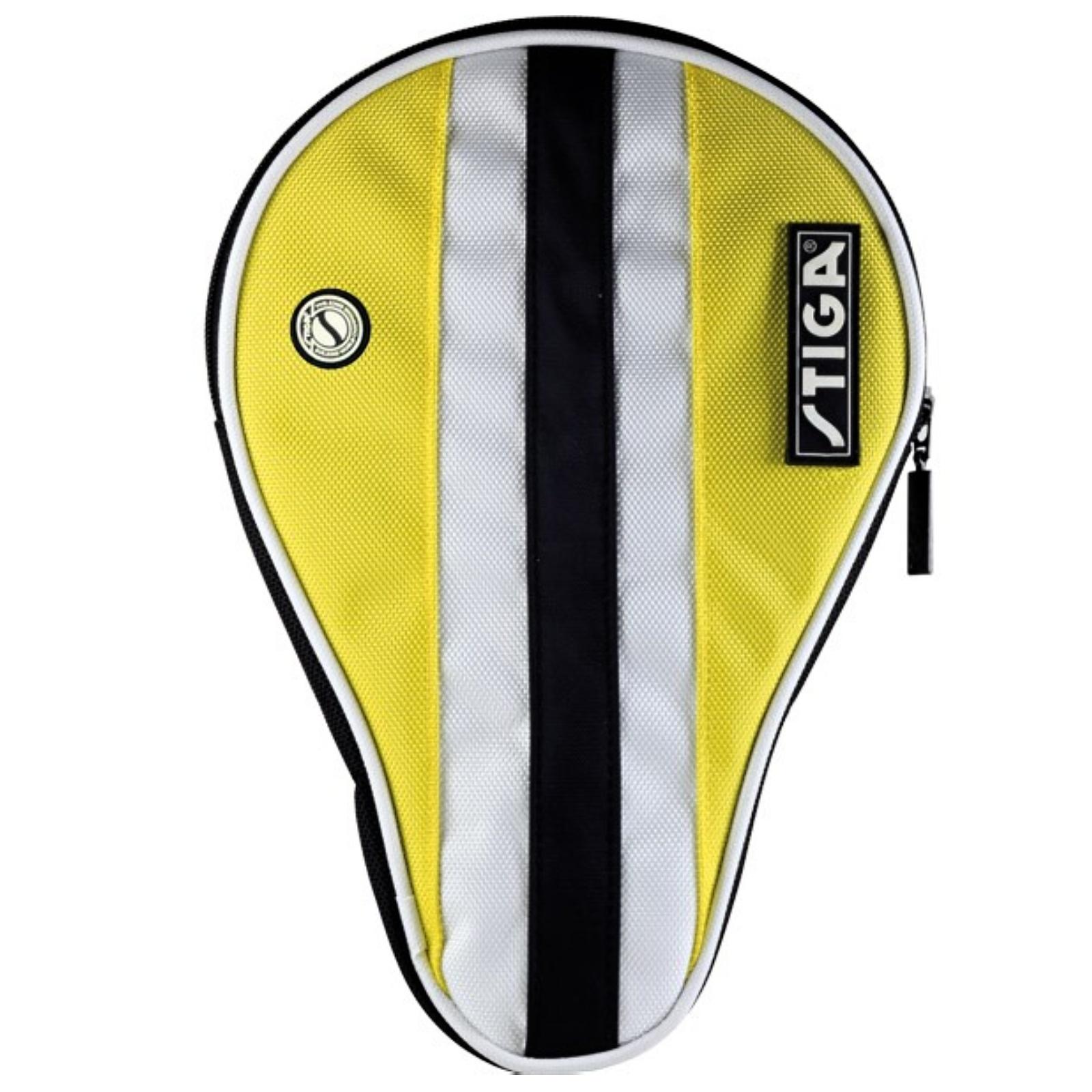 Obal na pálku na stolní tenis STIGA Line obrys - žlutý