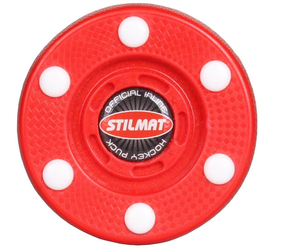 Puk na in-line hokej STILMAT - červený