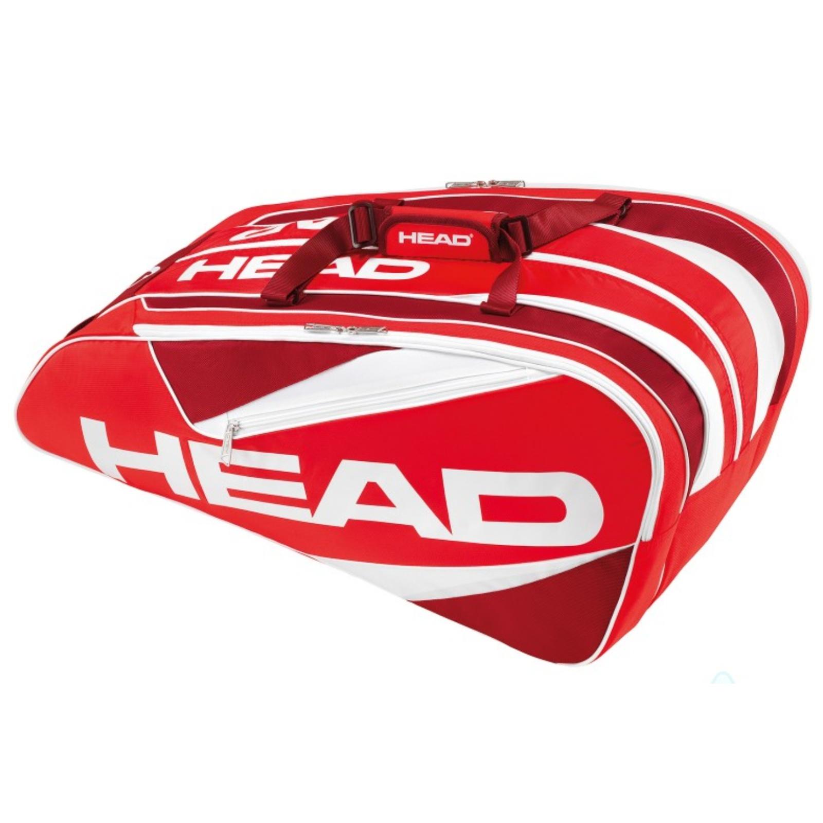 Tenisová taška HEAD Elite 12R Monstercombi červená