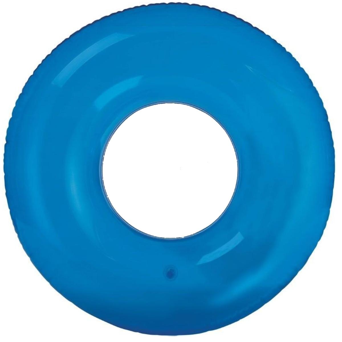 Nafukovací kruh barevný 76 cm - modrý
