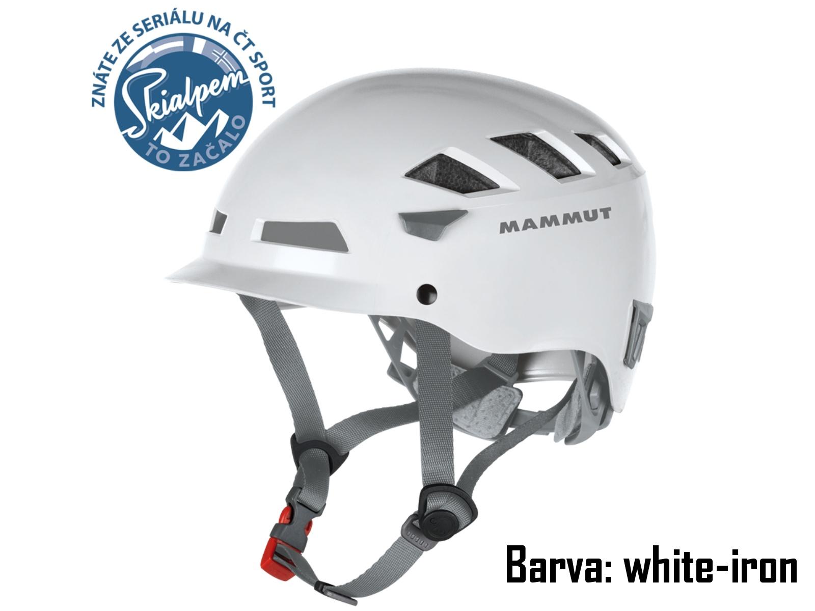 Horolezecká přilba MAMMUT El Cap white-iron, vel. 56-61 cm