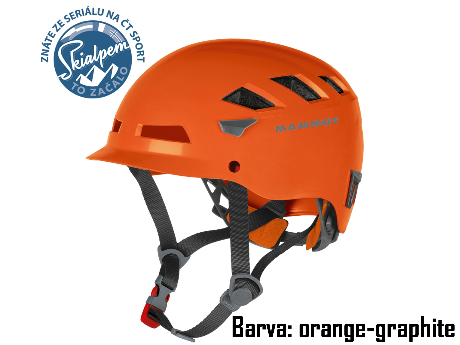 Horolezecká přilba MAMMUT El Cap orange-grapite, vel. 56-61 cm