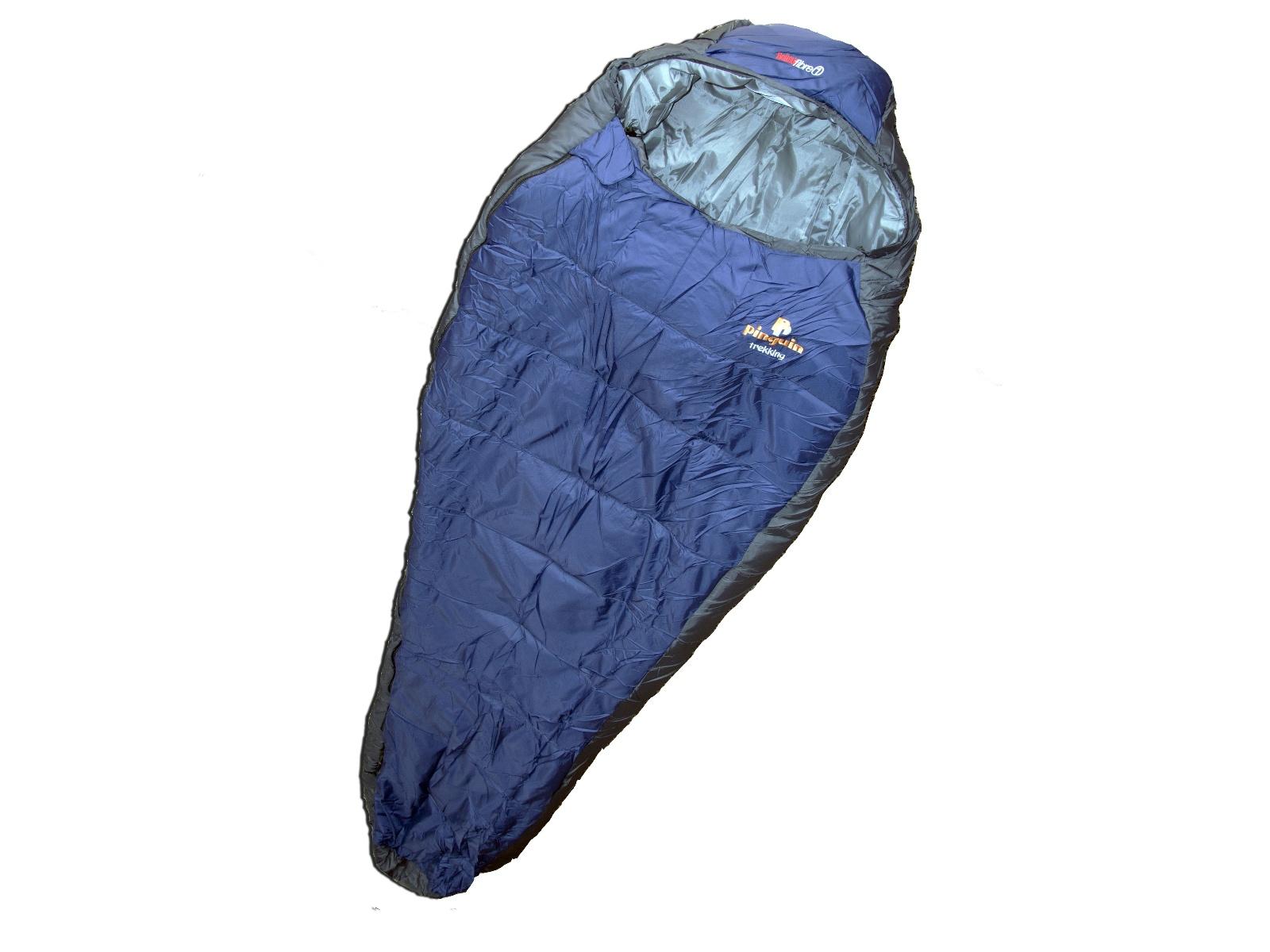 Spací pytel PINGUIN Trekking 190 cm modro-šedý - pravý zip