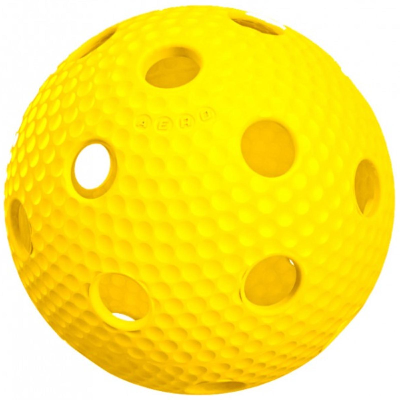 Florbalový míček SALMING Aero Plus Ball - žlutý
