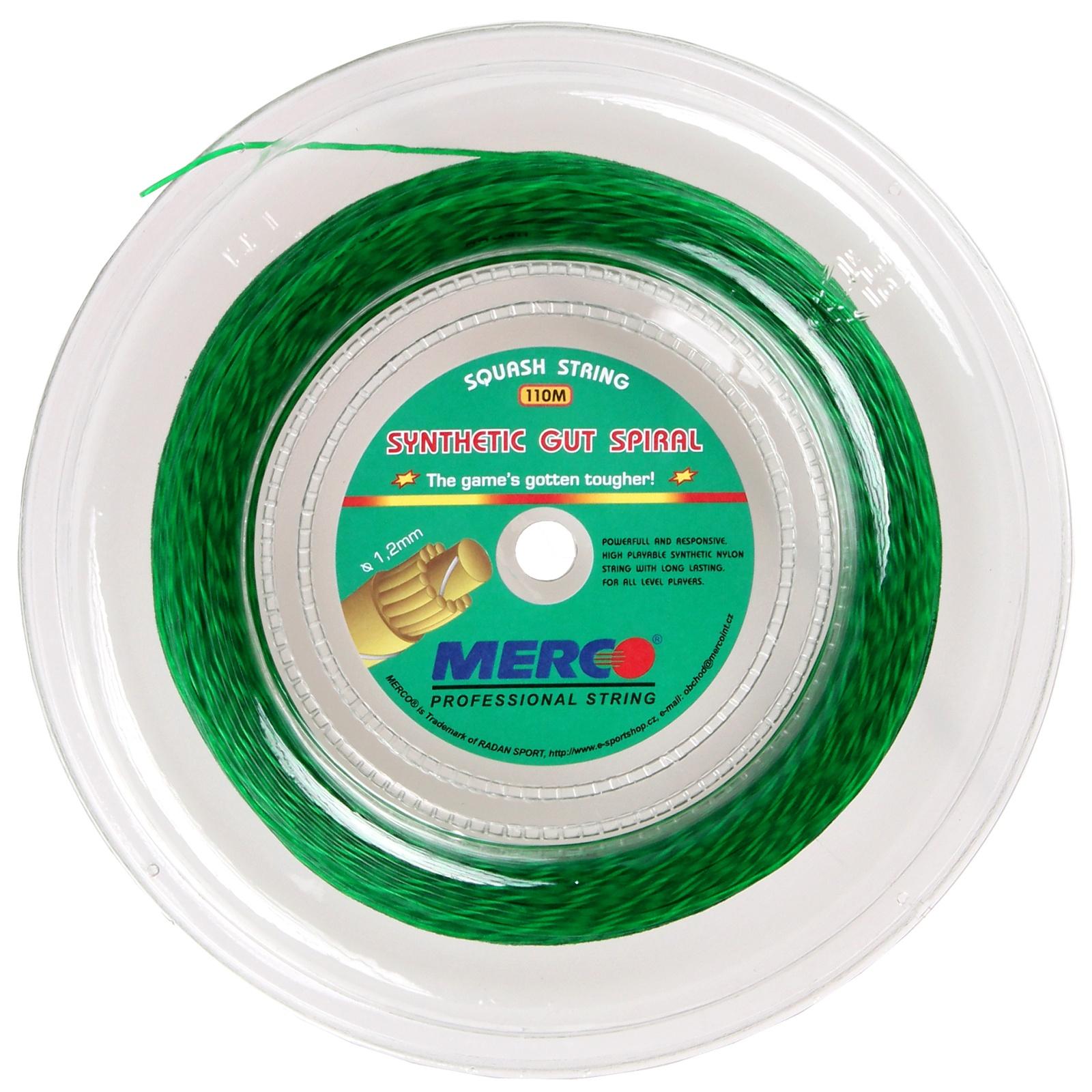 Squashový výplet MERCO Syntetic Gut Spiral 110m zelený