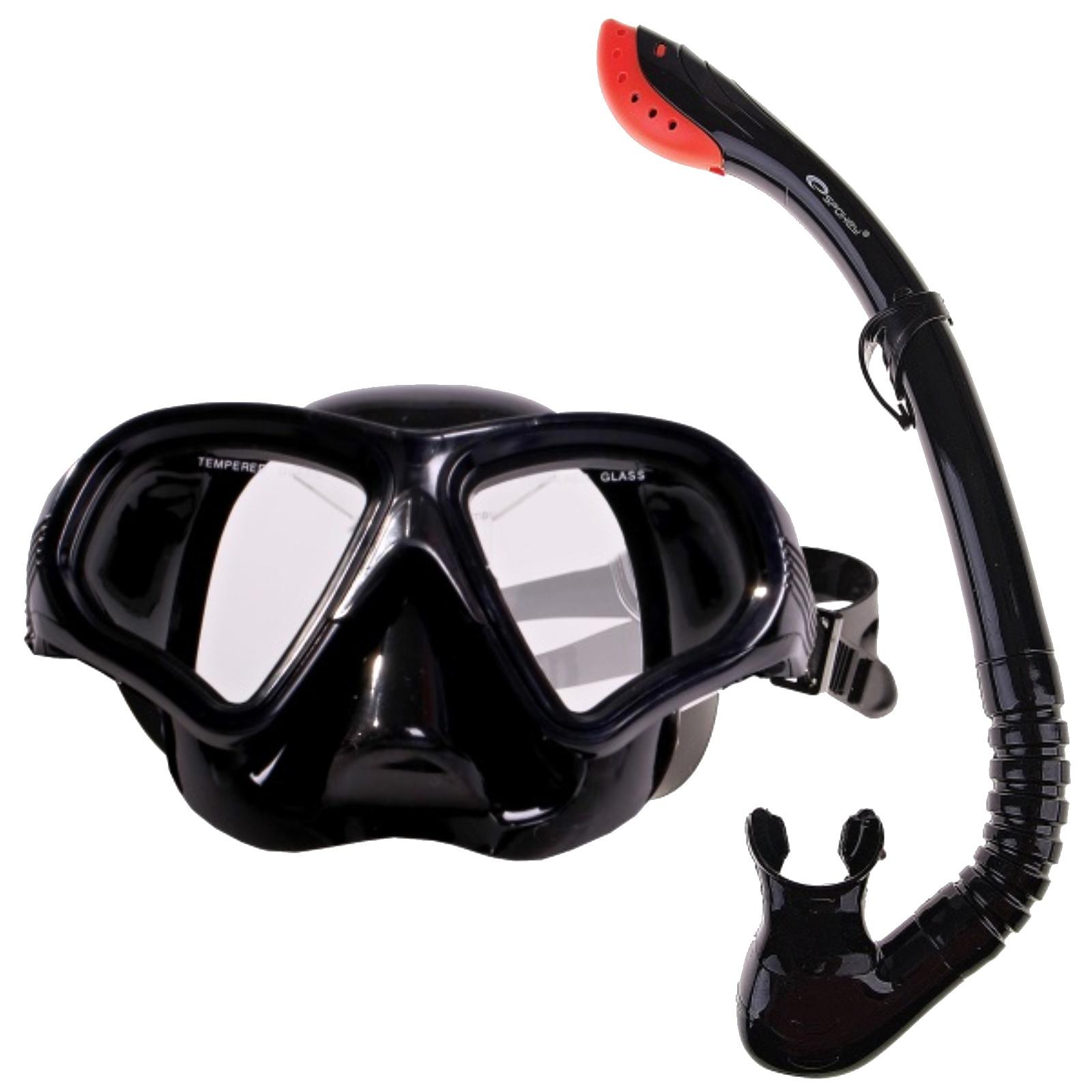 Potápěčský set SPOKEY Tortuga černý