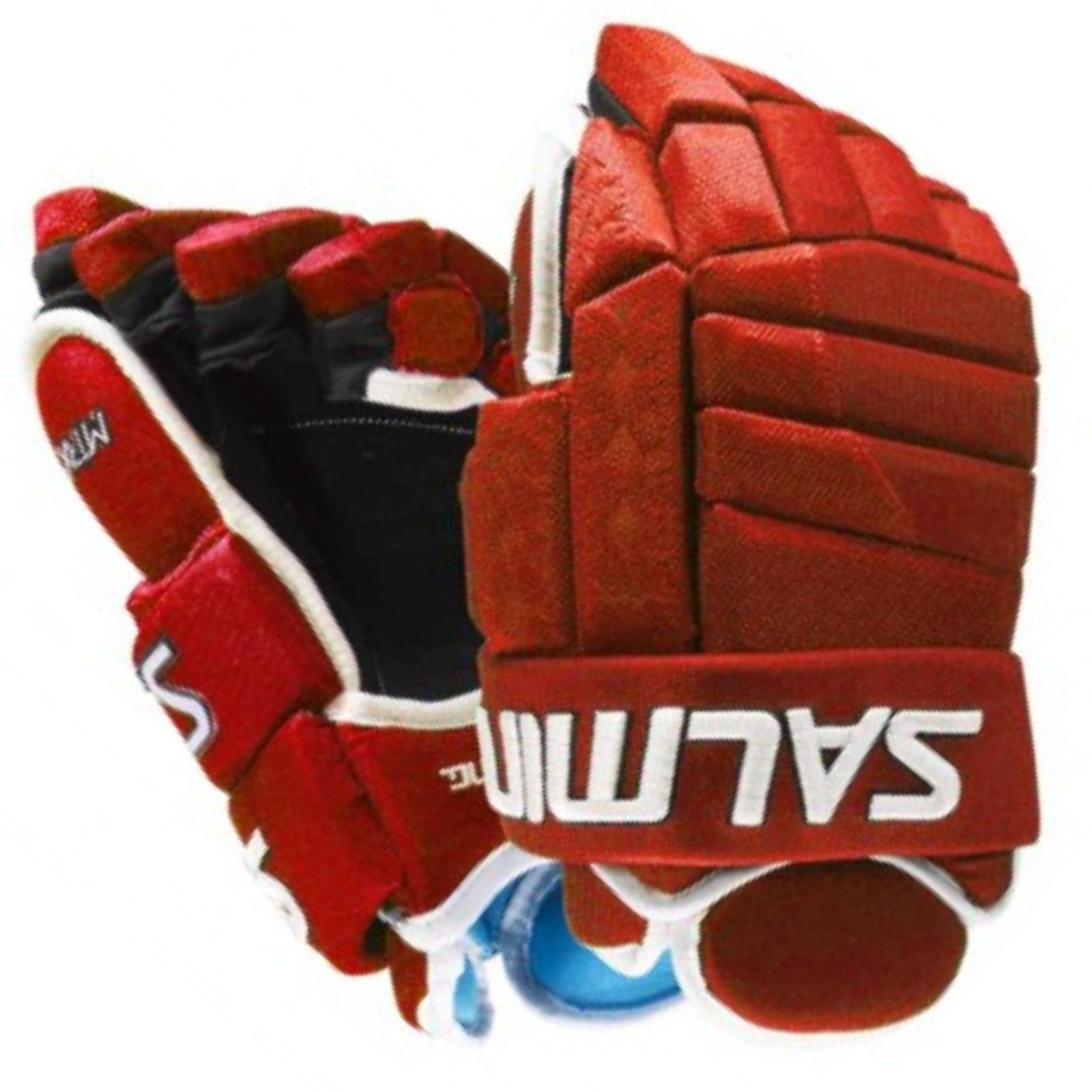 """Hokejové rukavice SALMING MTRX 21 červené - vel. 14"""""""