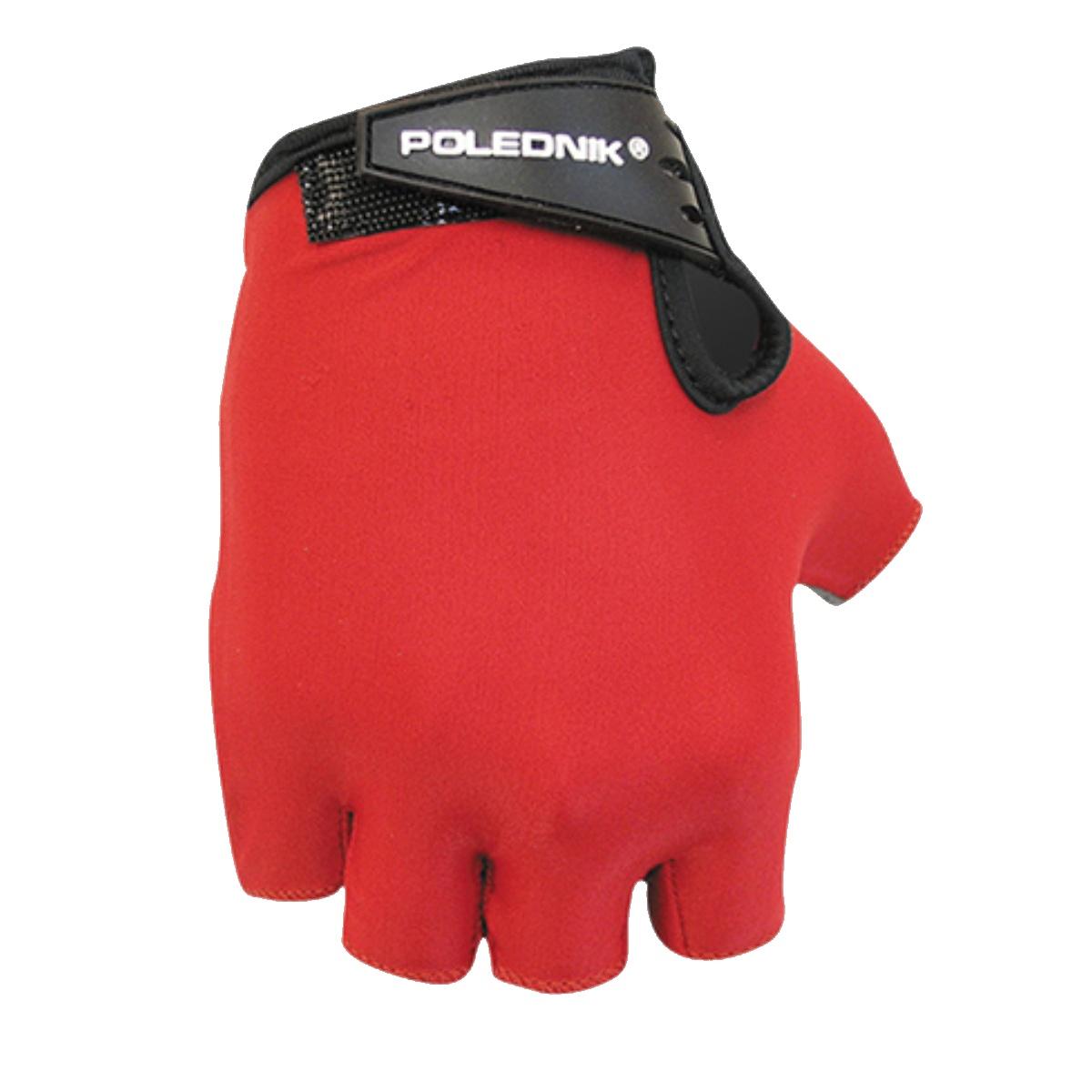 Cyklo rukavice POLEDNIK Basic dětské vel. 4 - červené