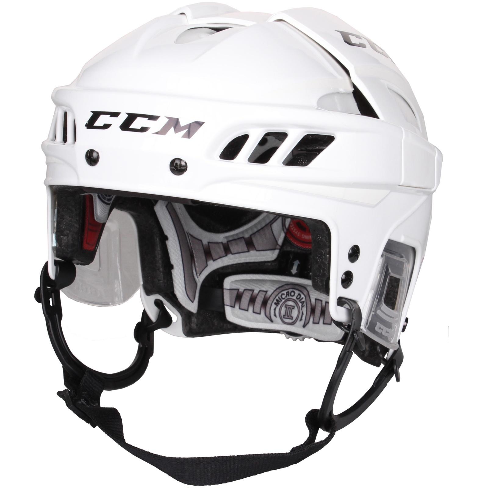 Hokejová helma CCM FitLite bílá - vel. S
