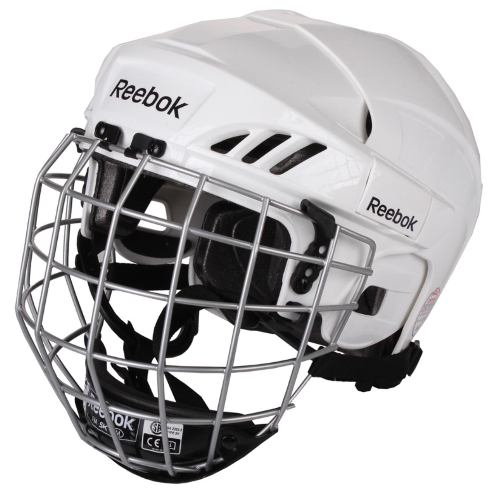 Hokejová helma REEBOK 3K Combo bílá - vel. M
