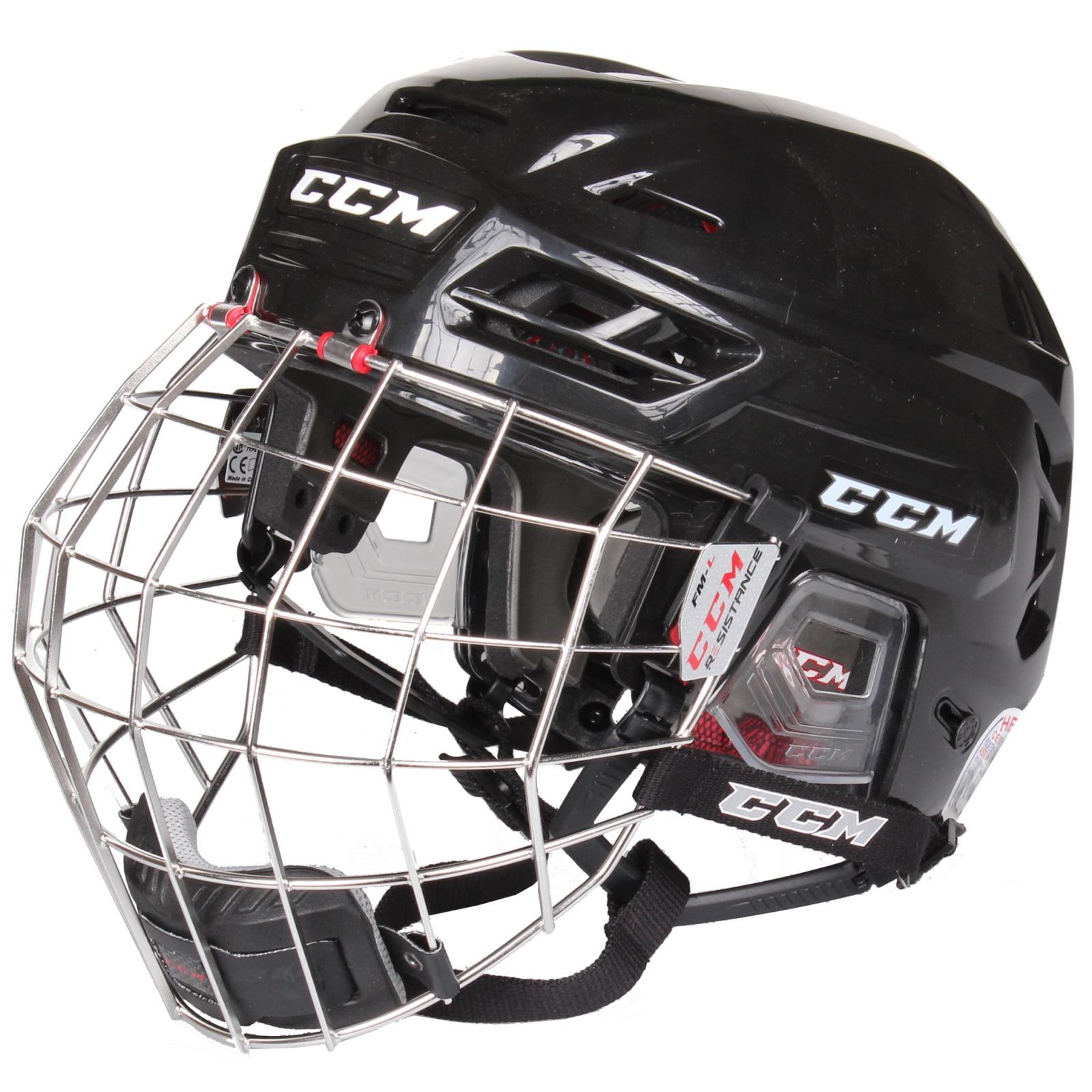 Hokejová helma CCM Resistance Combo černá - vel. S