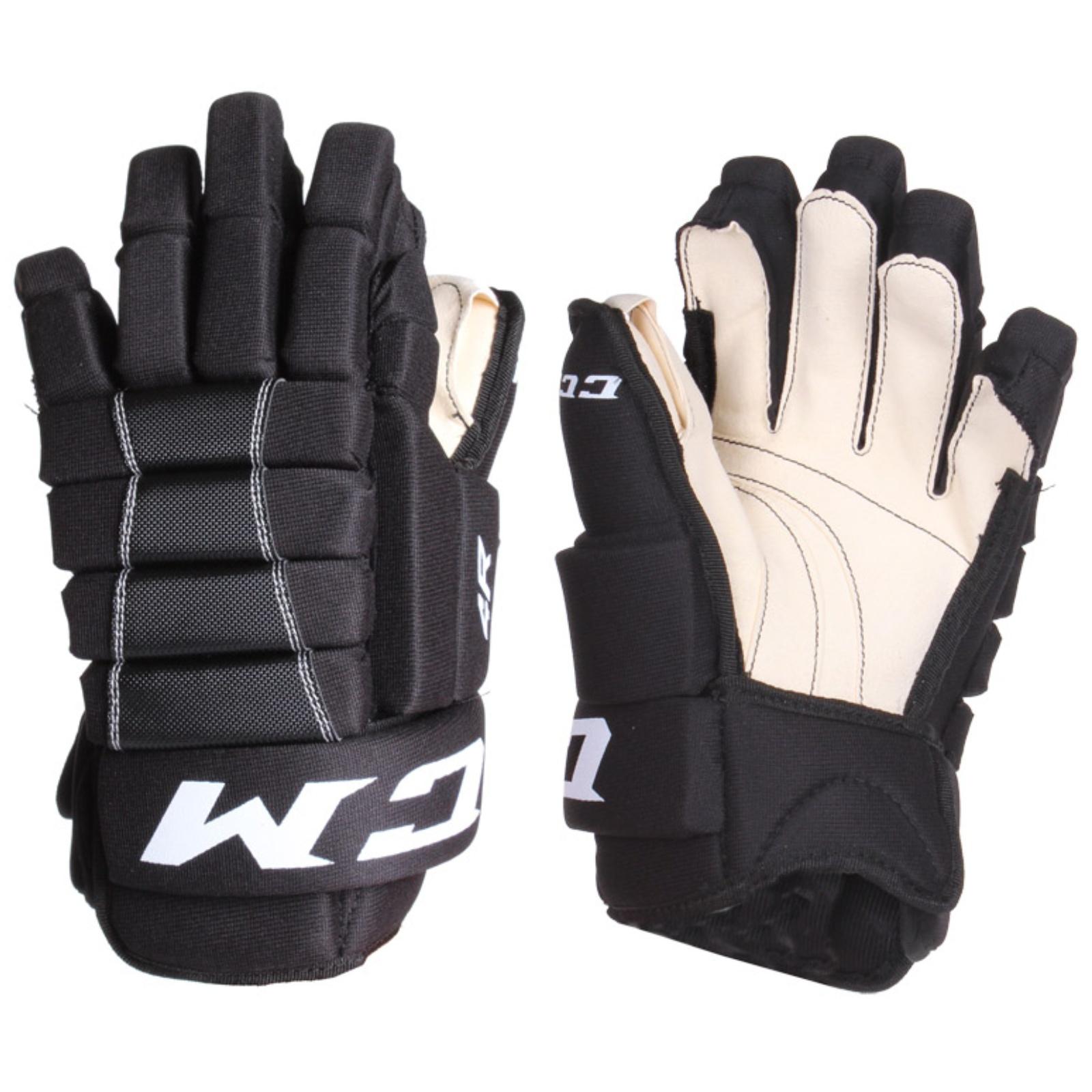 "Hokejové rukavice CCM 4R III senior, černo-bílé vel. 13"""