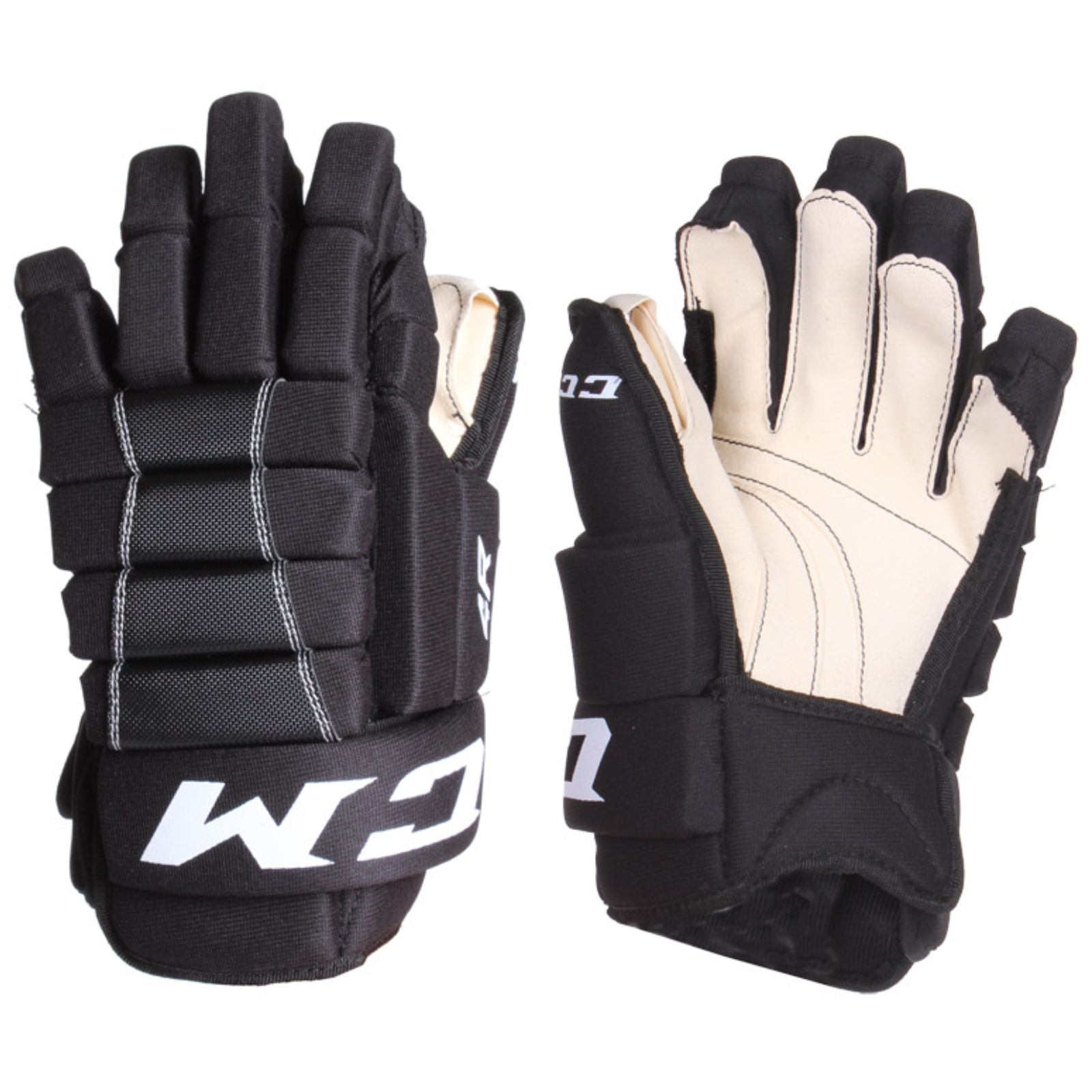 "Hokejové rukavice CCM 4R III junior, černo-bílé vel. 12"""