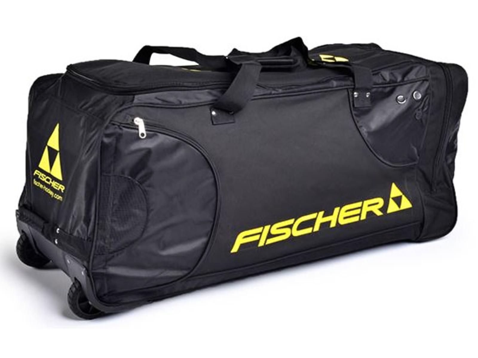 Hokejová taška FISCHER Player Bag SR na kolečkách černá