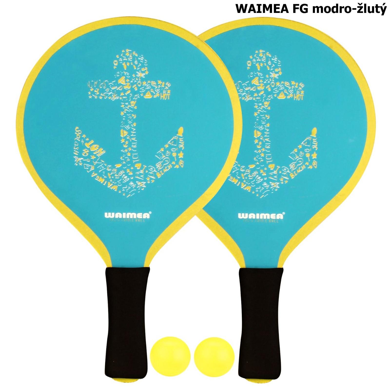 Plážový tenis WAIMEA FG - modro-žlutý