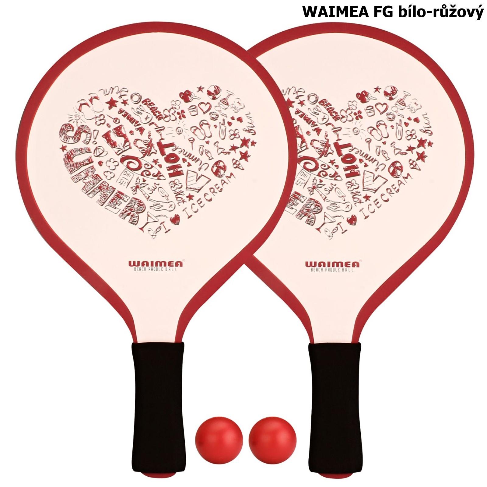 Plážový tenis WAIMEA FG - bílo-růžový