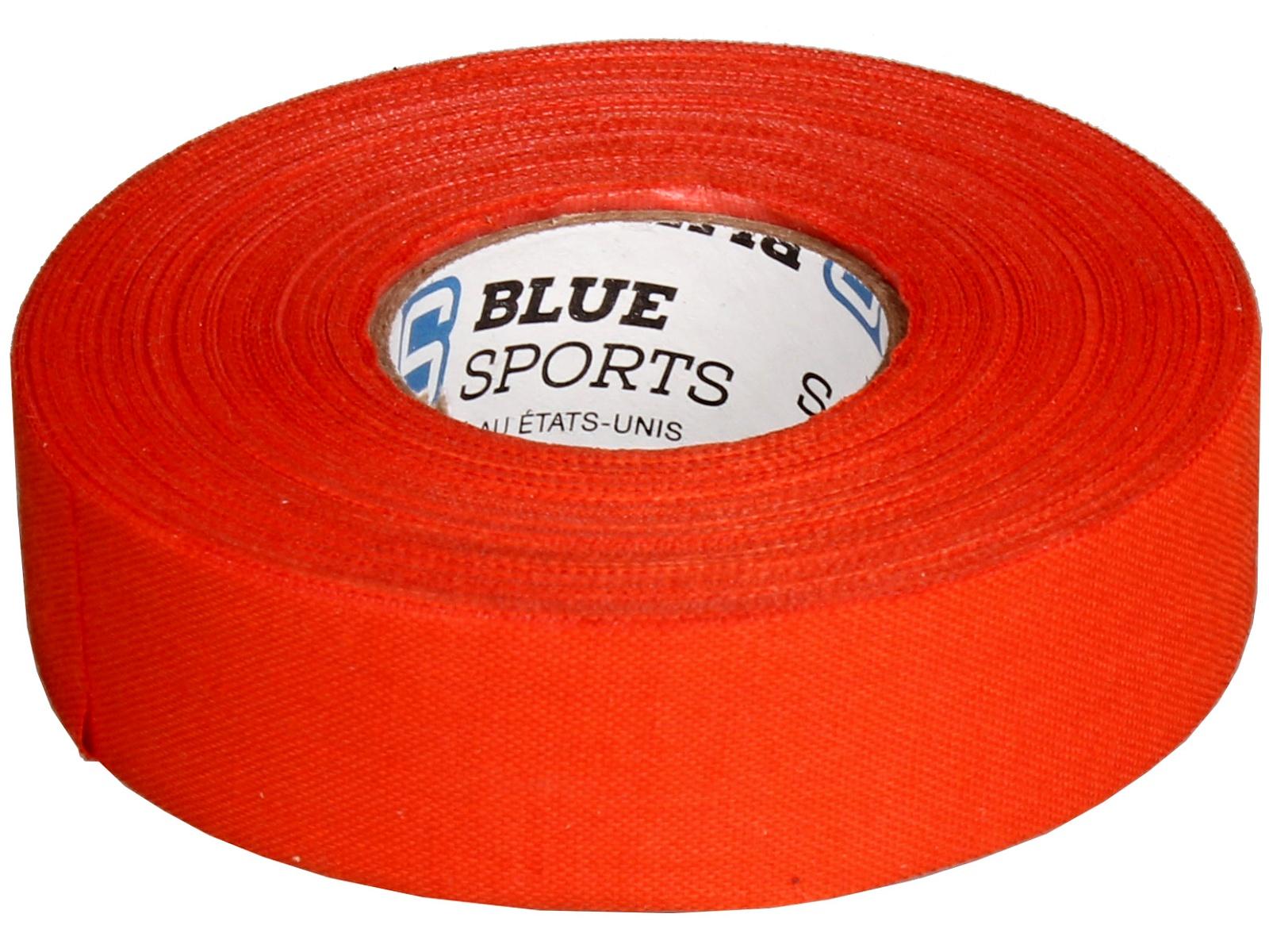 Hokejová páska BLUE Sport 25 m x 2,4 cm, netrhací - oranžová