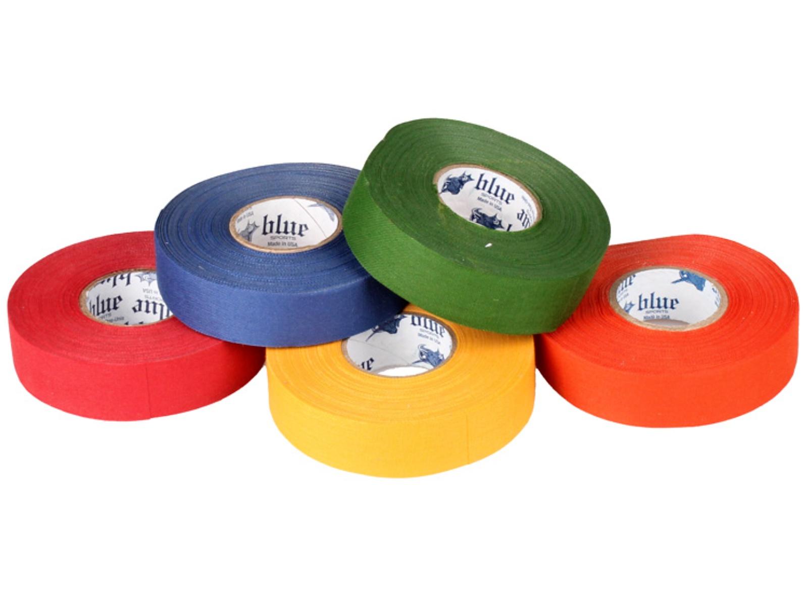 Hokejová páska BLUE Sport 25 m x 2,4 cm, netrhací - červená