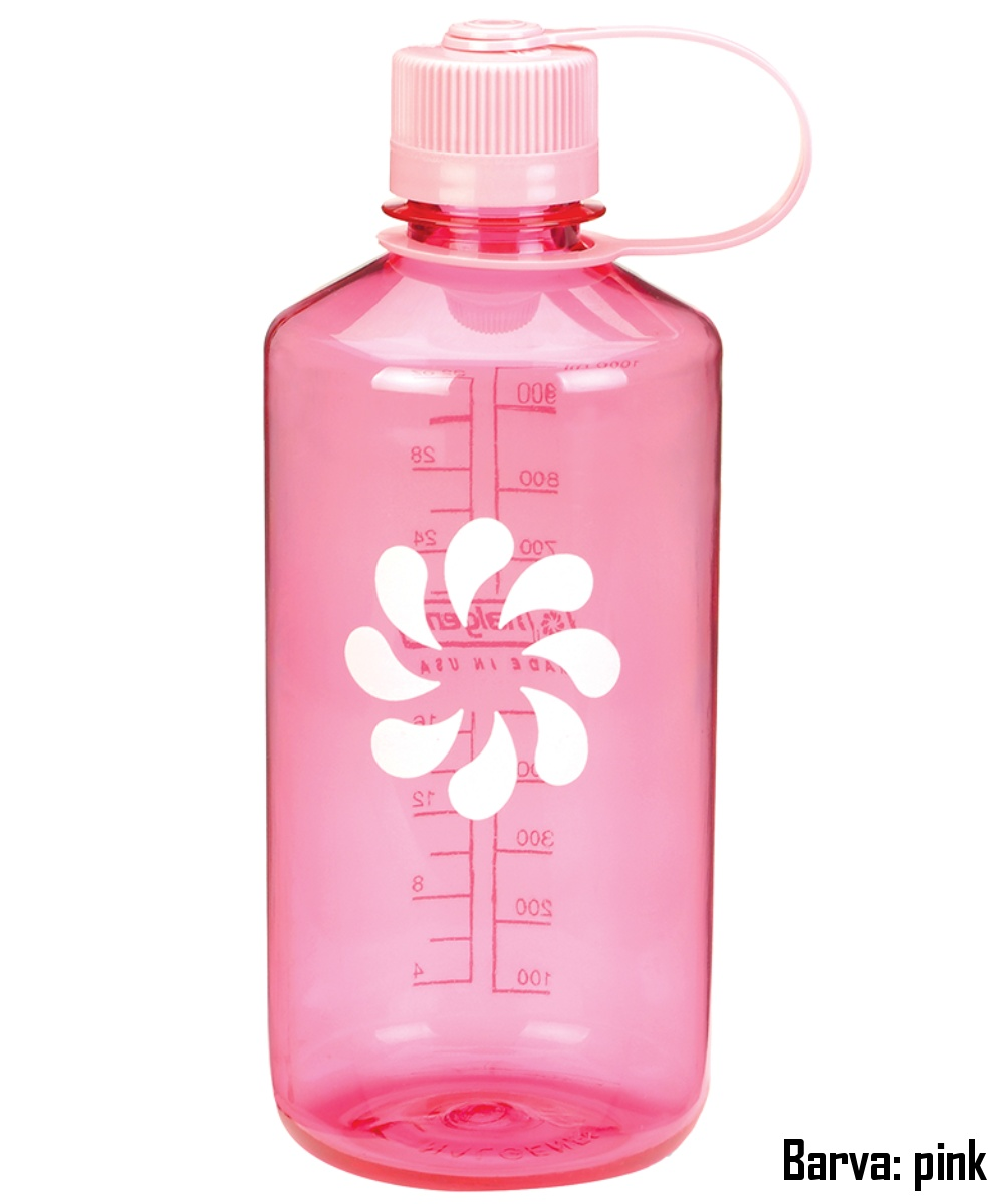 Láhev NALGENE Narrow Mouth 1 l - pink