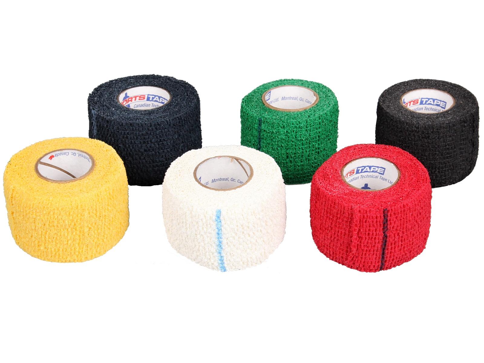 Hokejová páska Sportstape Grip na koncovky - bílá