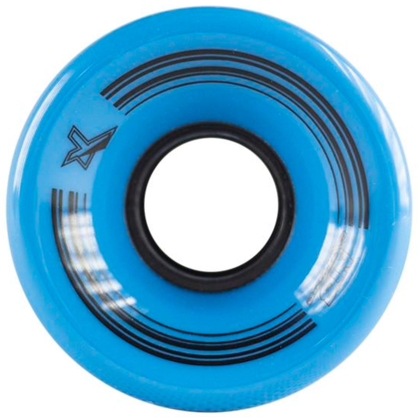 Kolečka pro plastik board 60 x 45 mm NILS Extreme - modré