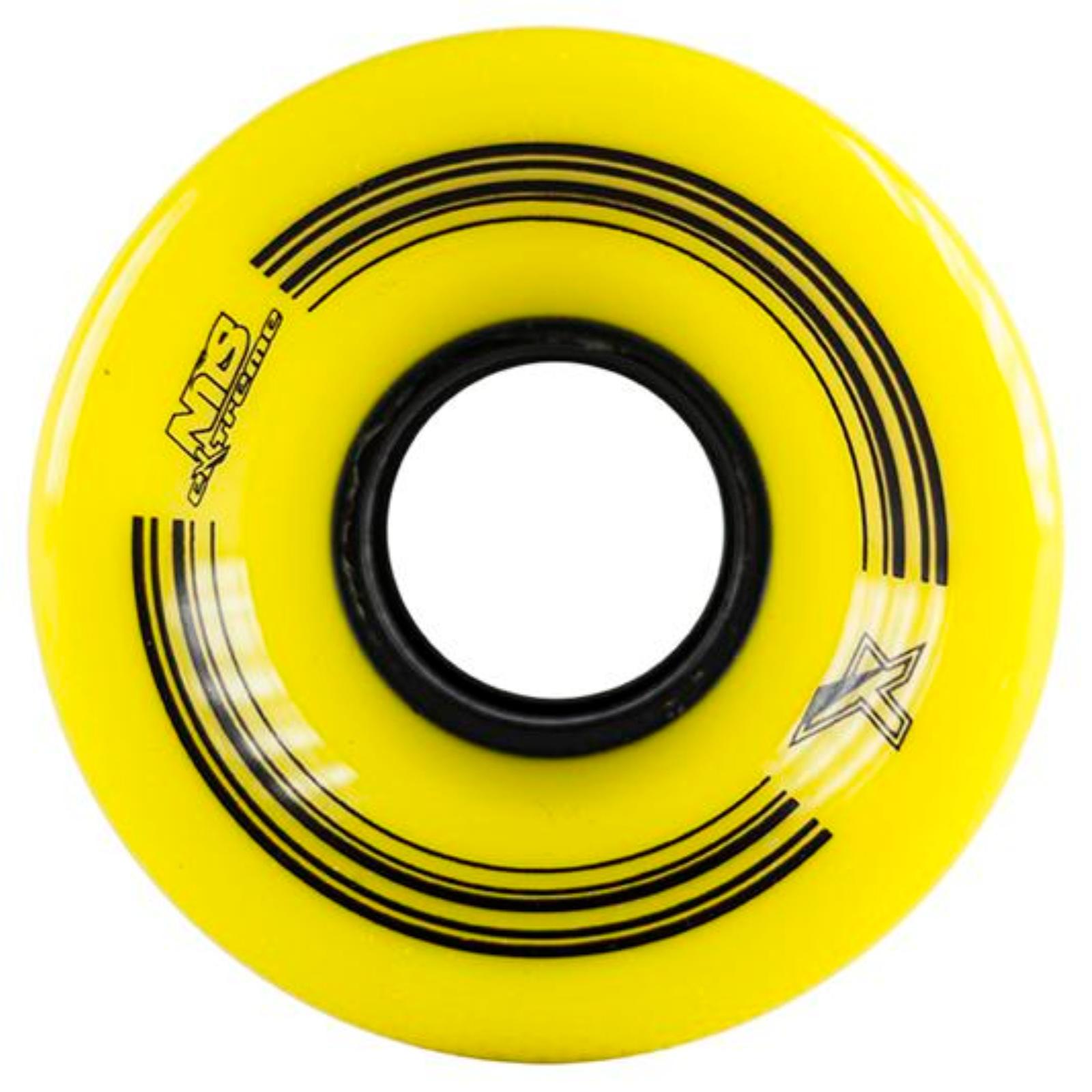 Kolečka pro plastik board 60 x 45 mm NILS Extreme - žluté