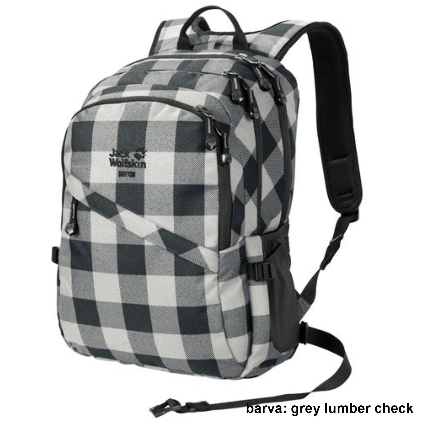 Městský batoh JACK WOLFSKIN Dayton 28 l -grey lumber check