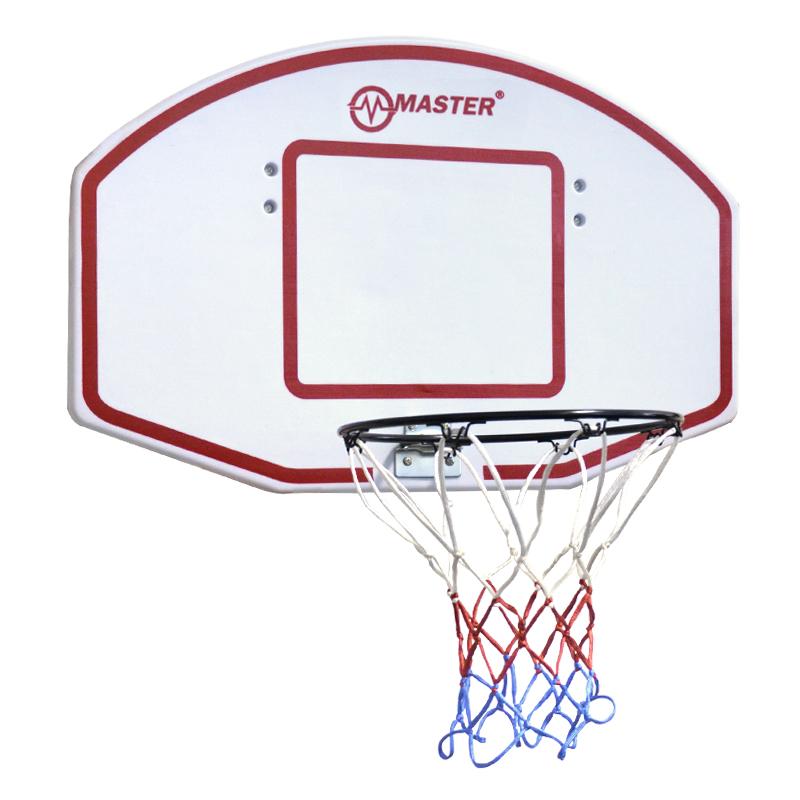 Basketbalový koš s deskou MASTER 71 x 45 cm - bílý