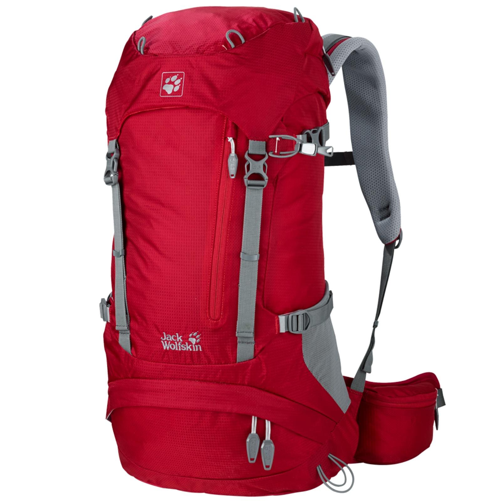 Batoh JACK WOLFSKIN ACS Hike Pack 26 l - červený