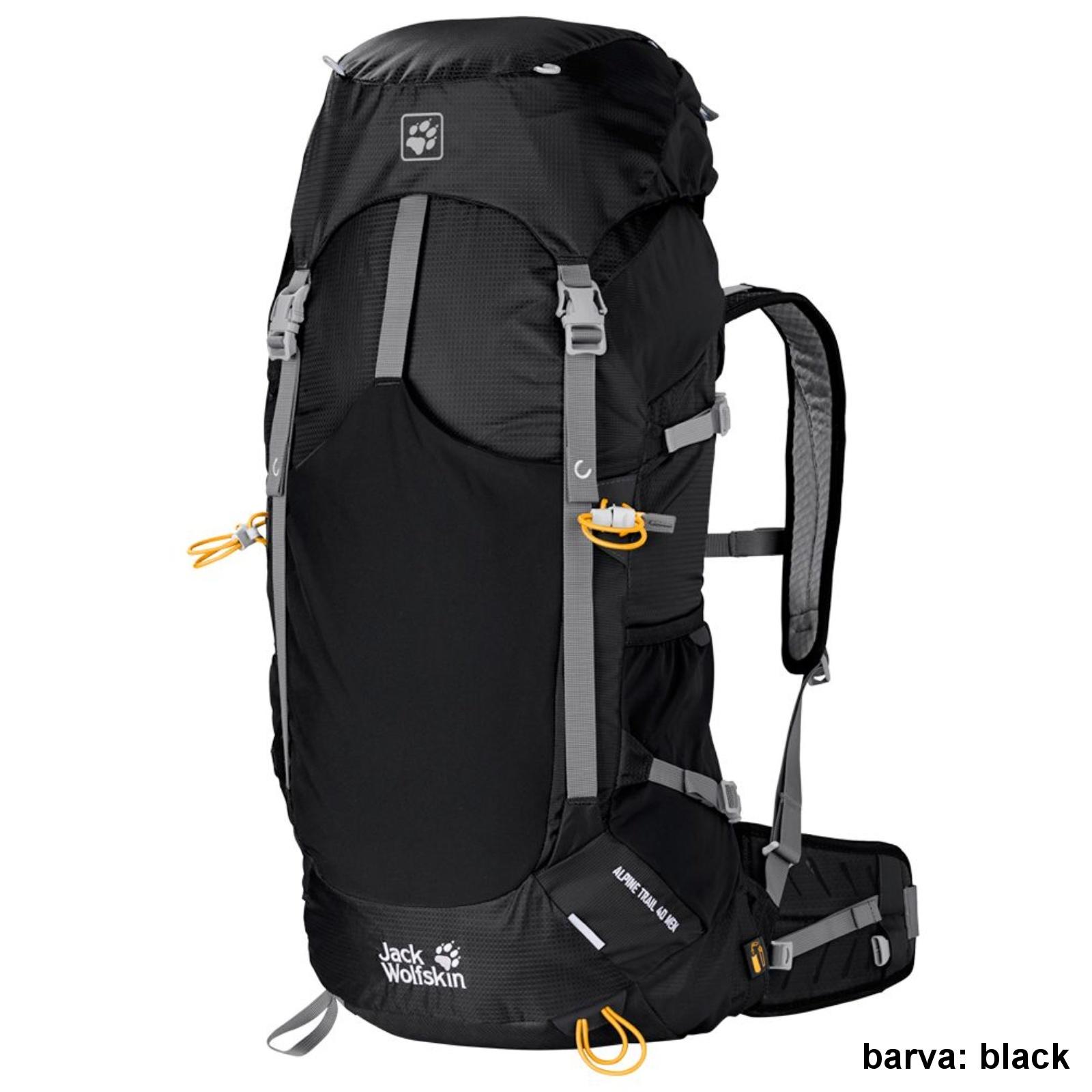 Batoh JACK WOLFSKIN Alpine Trail 40 l - černý