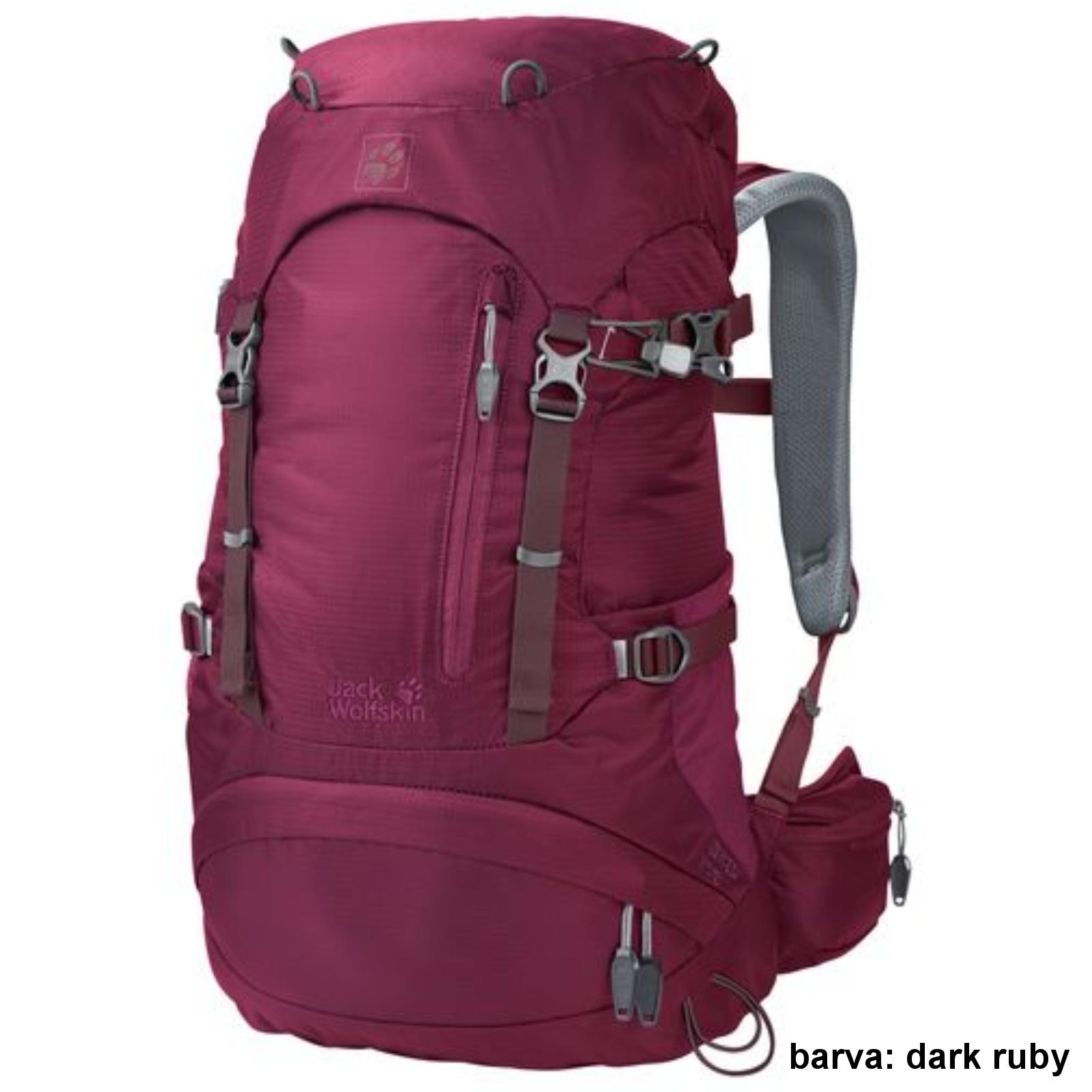 Batoh JACK WOLFSKIN ACS Hike Pack Women 24 l - dark ruby