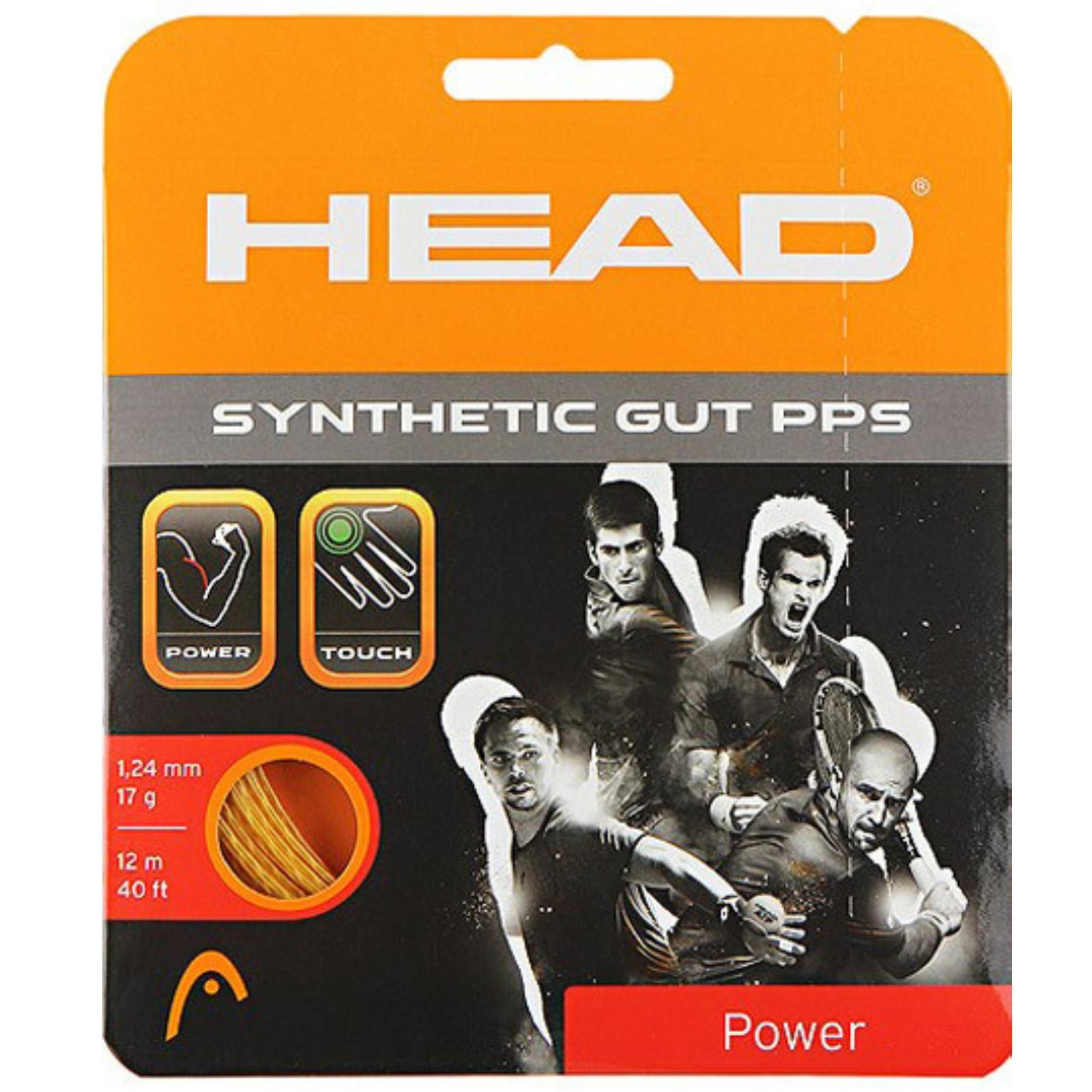 Tenisový výplet HEAD Synthetic Gut PPS 17g 1.25 mm černý