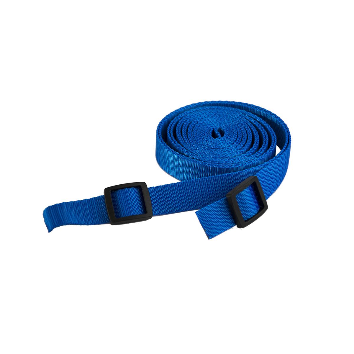 Tažný popruh na tahání saní a bobů - 3 metry - modrý