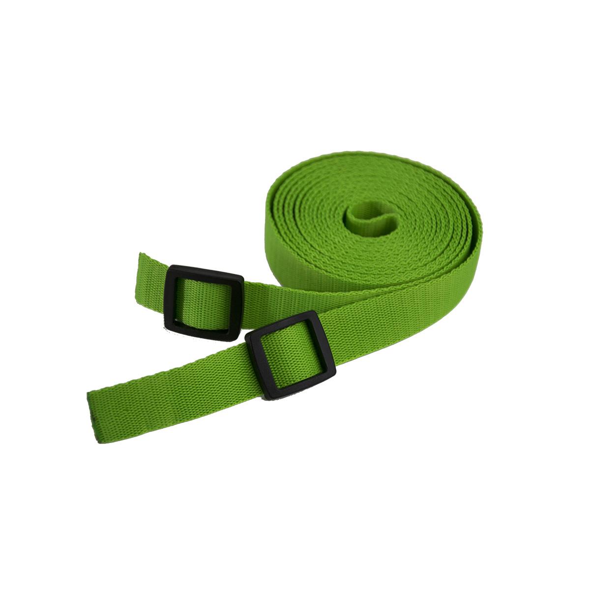 Tažný popruh na tahání saní a bobů - 3 metry - zelený