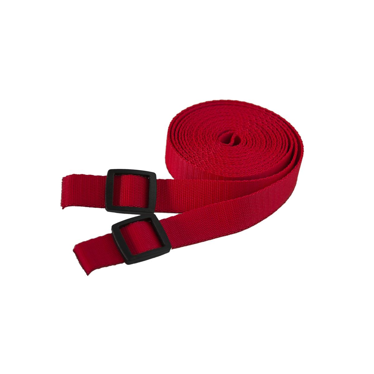Tažný popruh na tahání saní a bobů - 3 metry - červený