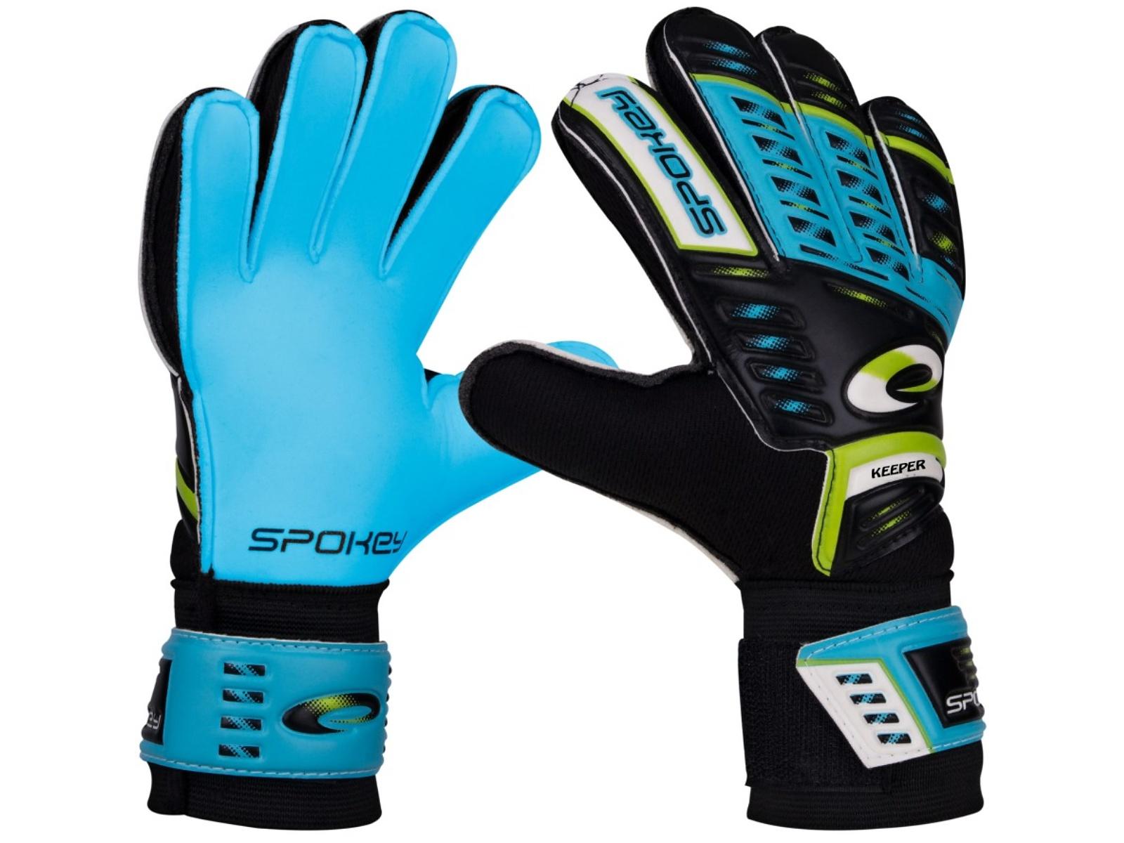 Brankářské rukavice SPOKEY Keeper Junior 4 modré