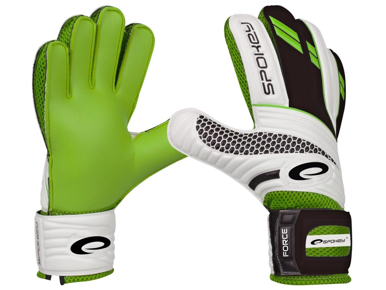 Brankářské rukavice SPOKEY Force 8 zelené