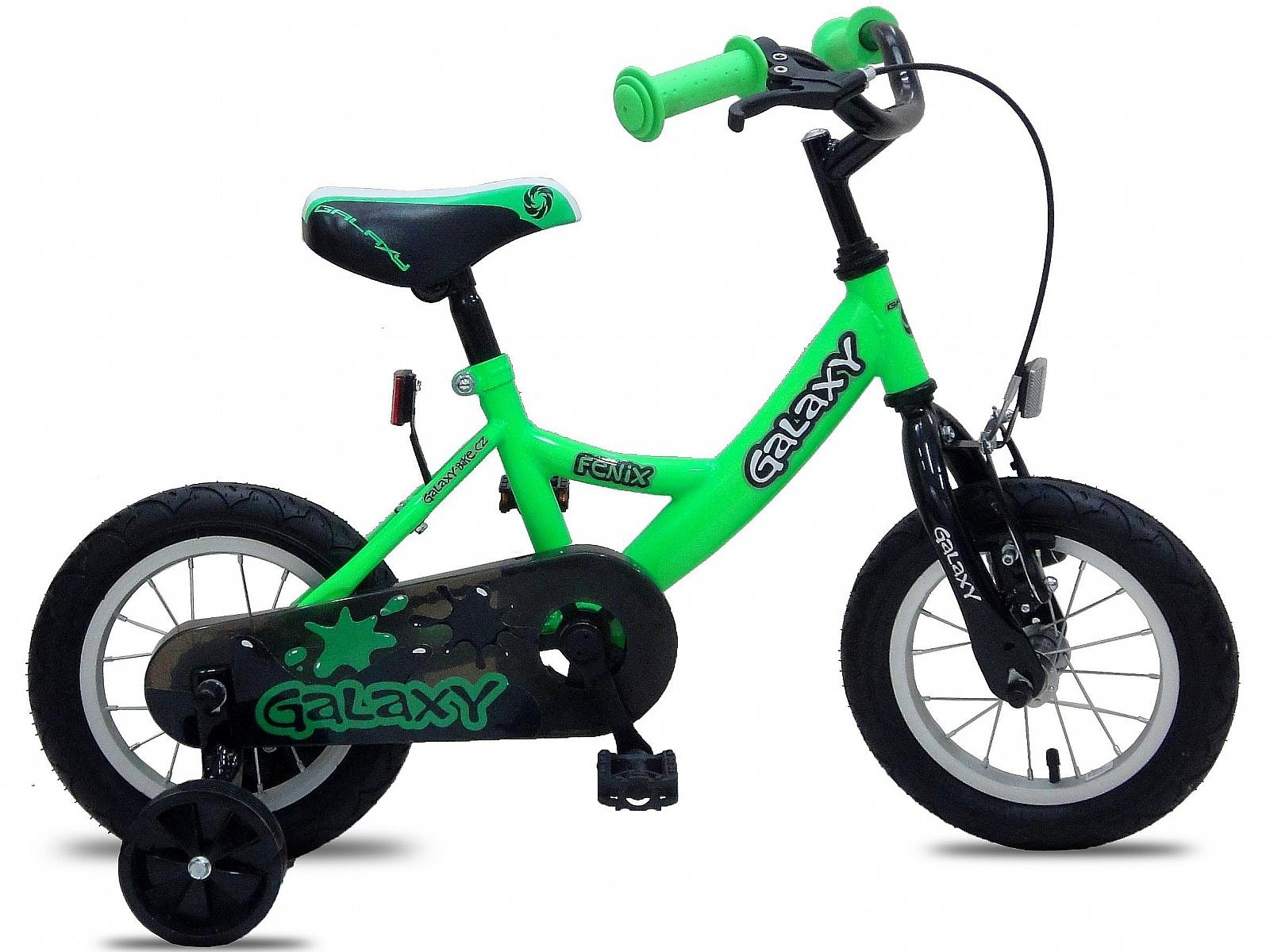 """Dětské kolo GALAXY Fenix 12"""" zelené"""
