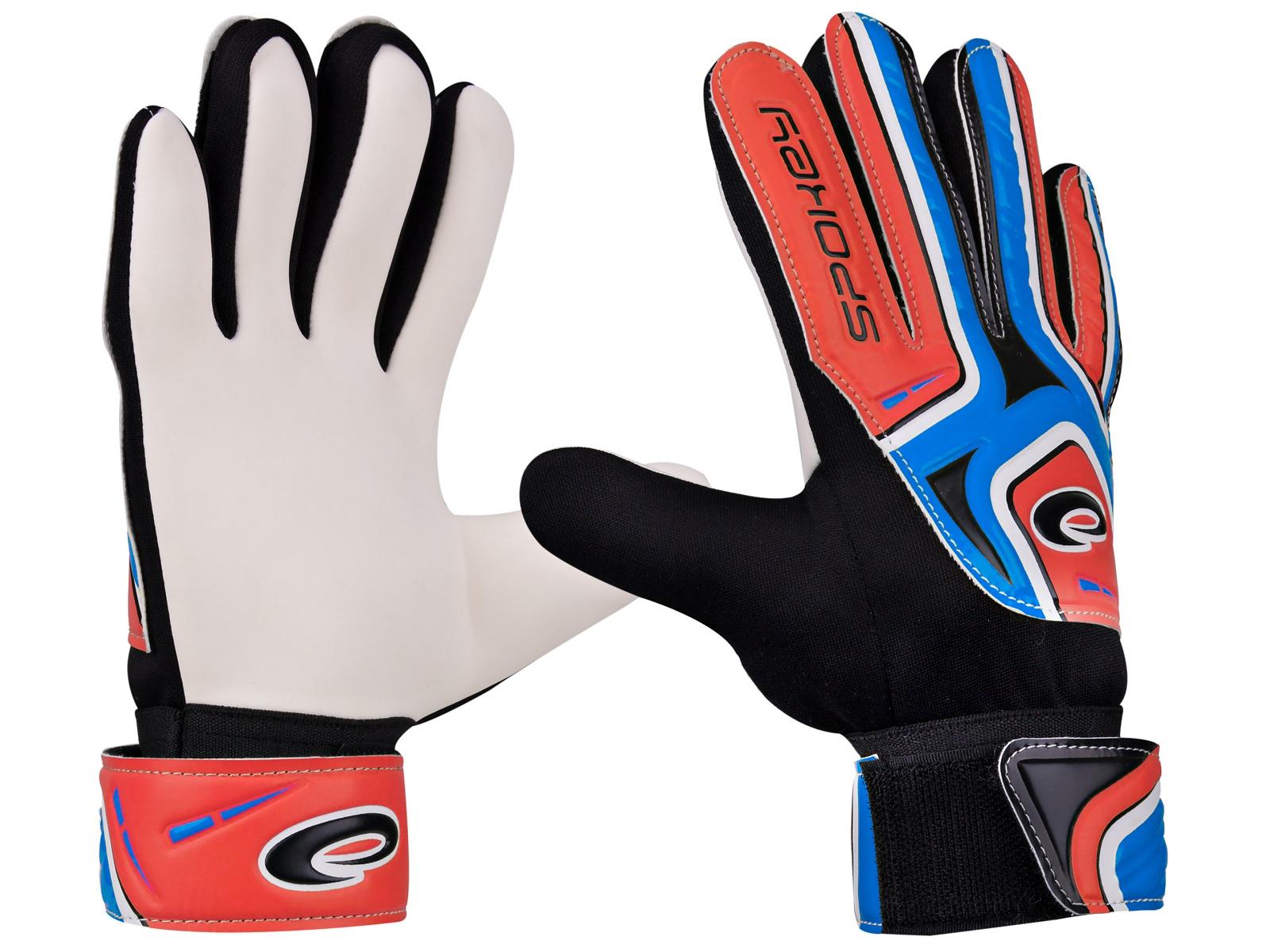 Brankářské rukavice SPOKEY Catch II 6 modro-červené