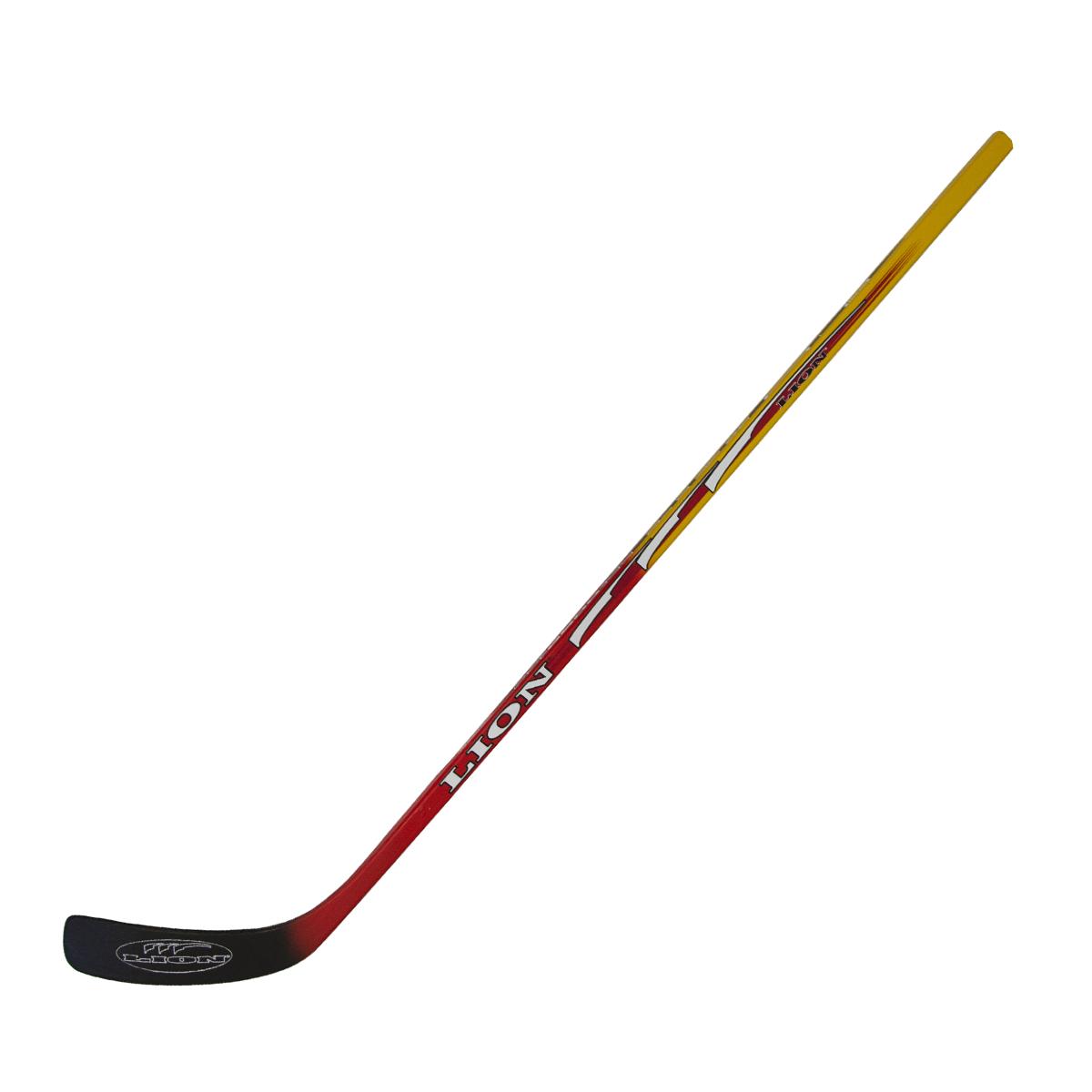 Hokejka LION 6633 - 125 cm pravá - červená