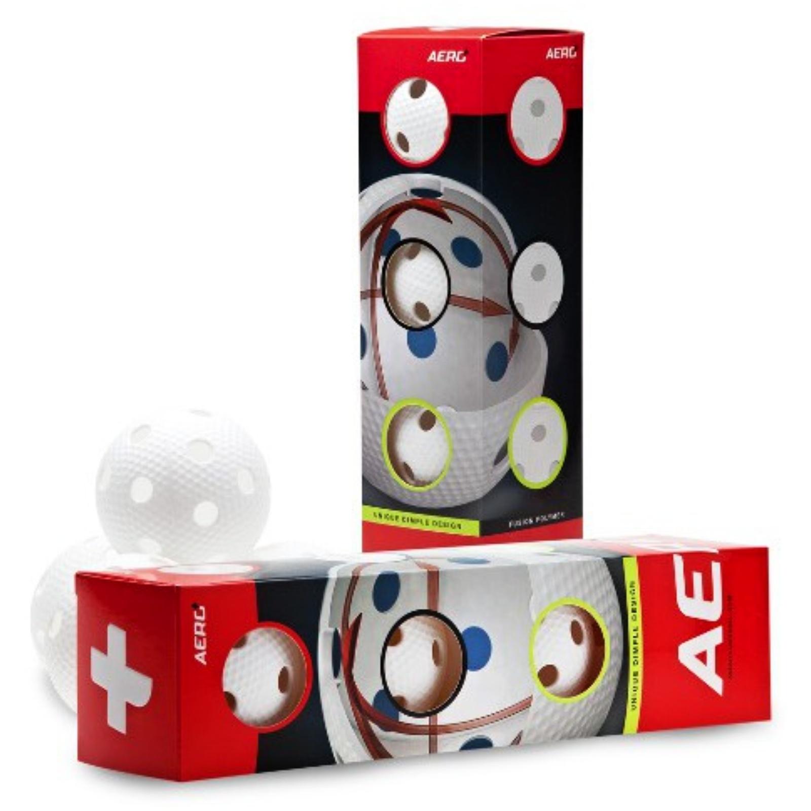 Florbalový míček SALMING Aero Plus Ball 4 ks, bílý