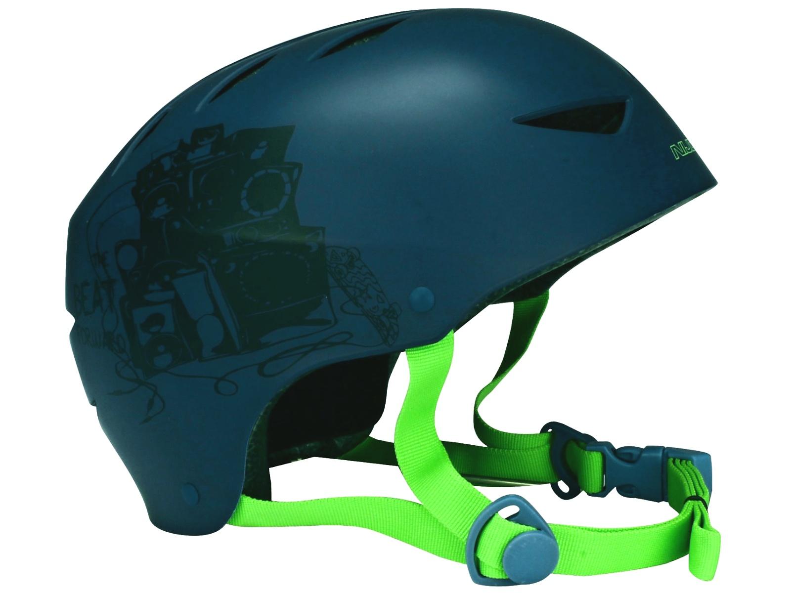 Helma na in-line NIJDAM Deluxe modro-zelená, vel. S