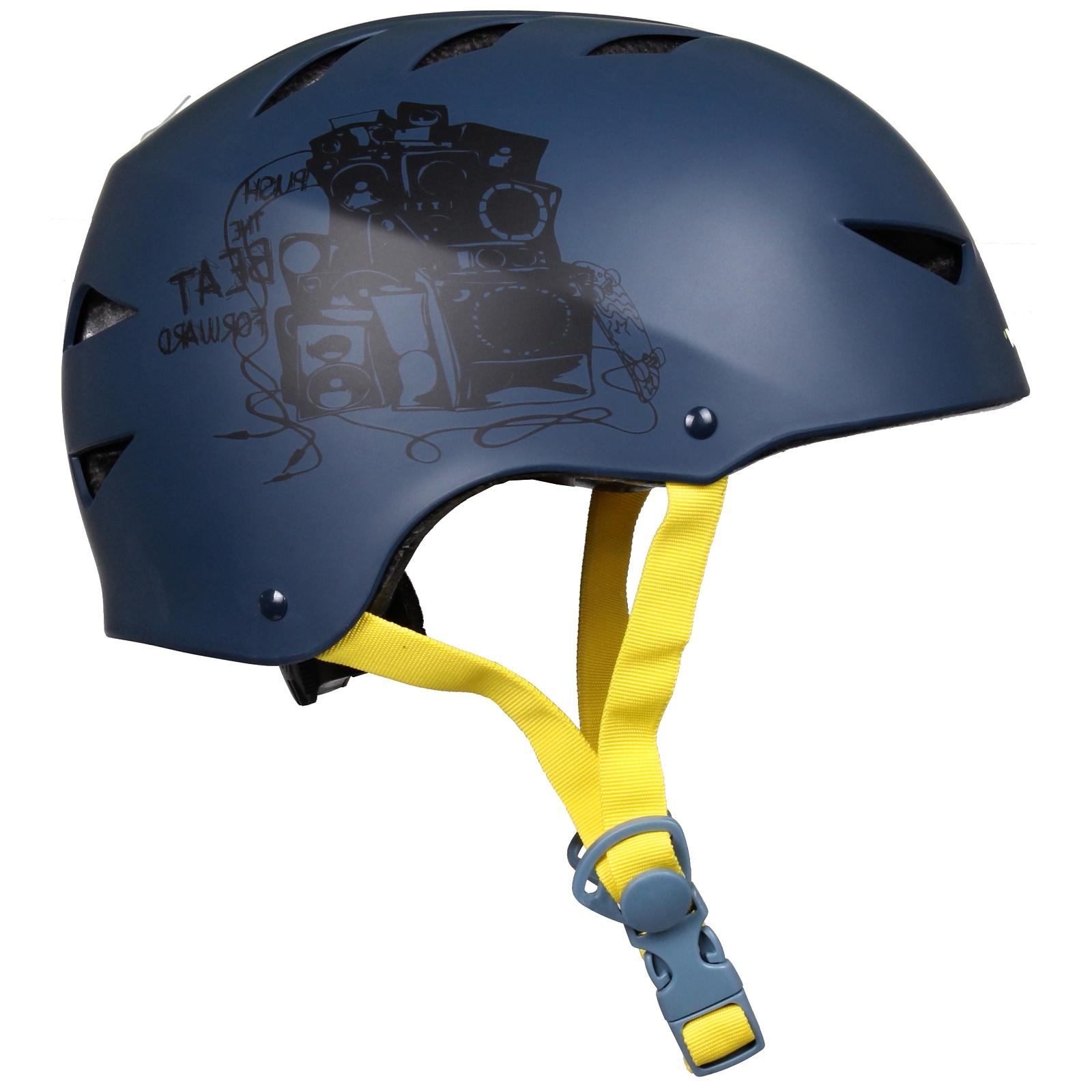 Helma na in-line NIJDAM Deluxe modro-žlutá, vel. L