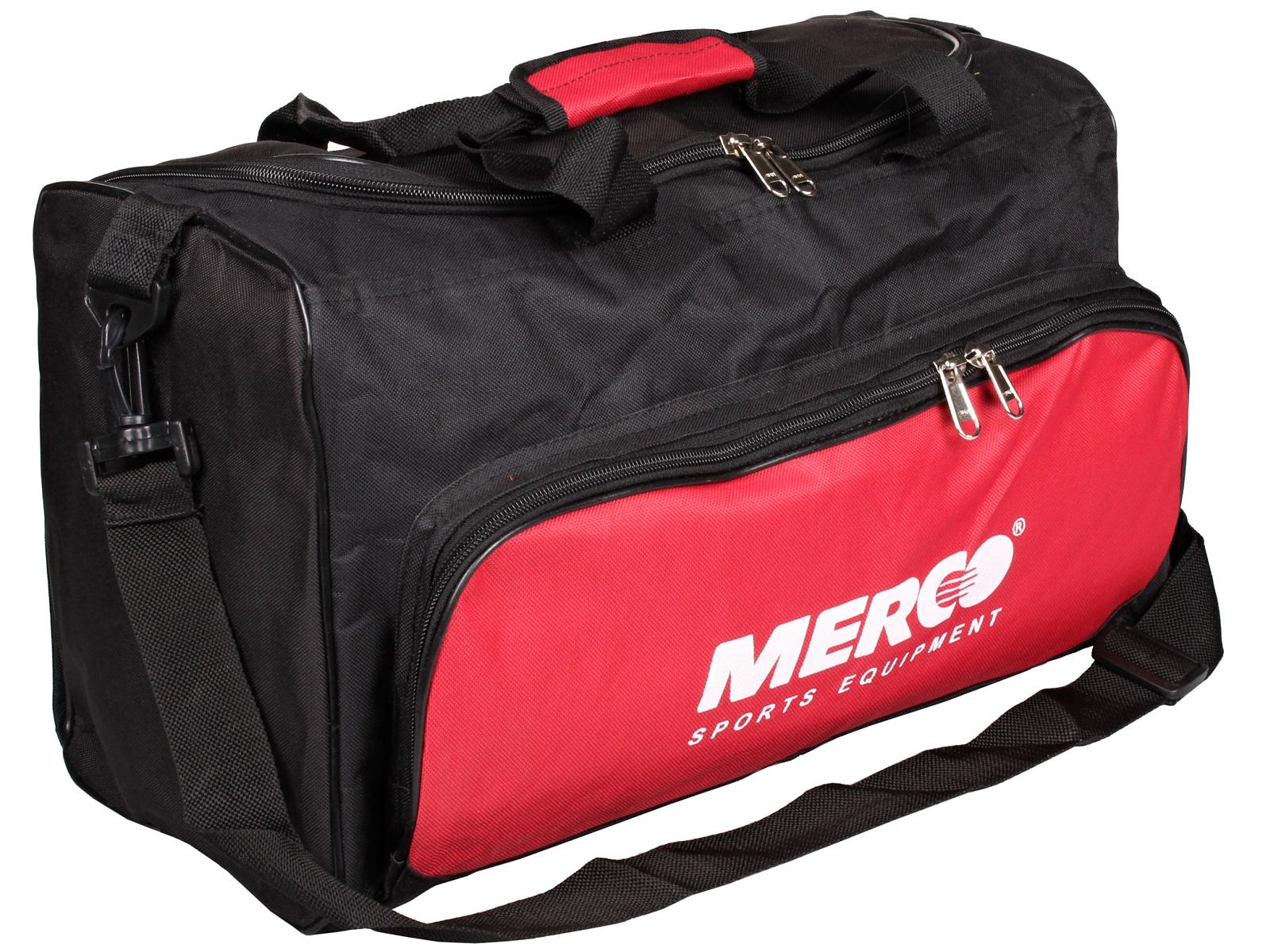 Sportovní taška MERCO 101 23L černá-červená