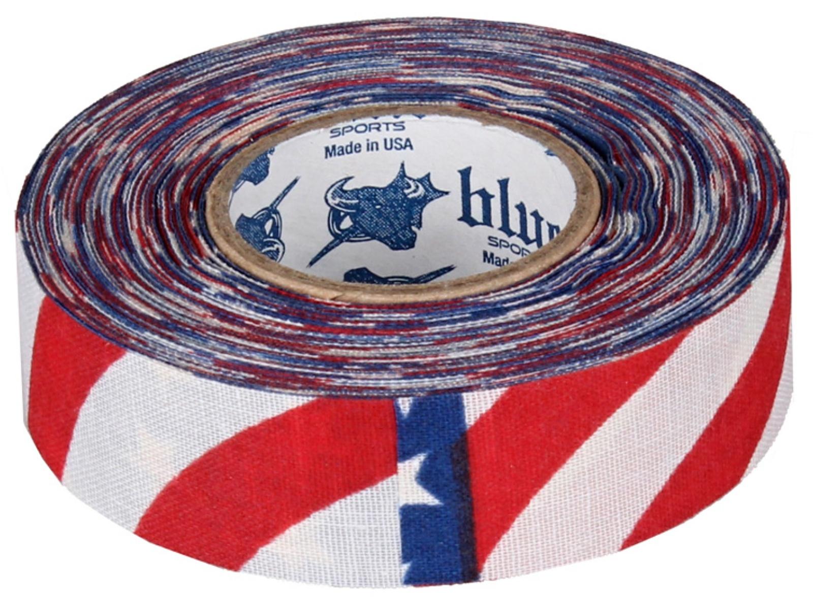Hokejová páska BLUE Sport 18 m x 2,4 cm, netrhací - USA
